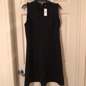Loft Ruffle Neck & Sleeveless Dress - Like New